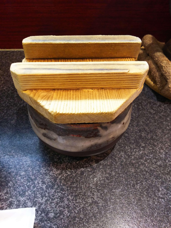 木蓋がされたつけ麵の出汁