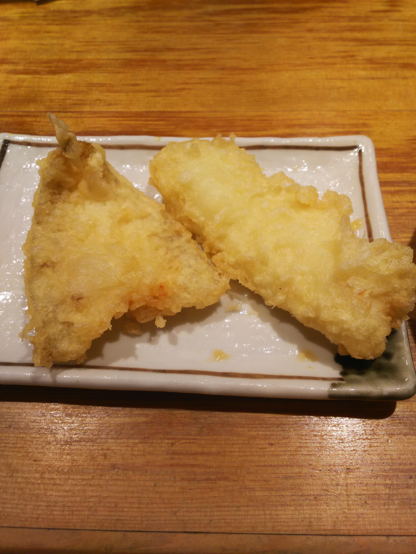 『天ぷらまきの梅田』のキス、カレイ