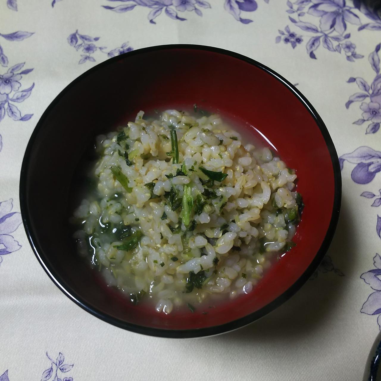 Oixisのおせちに含まれていた七草粥