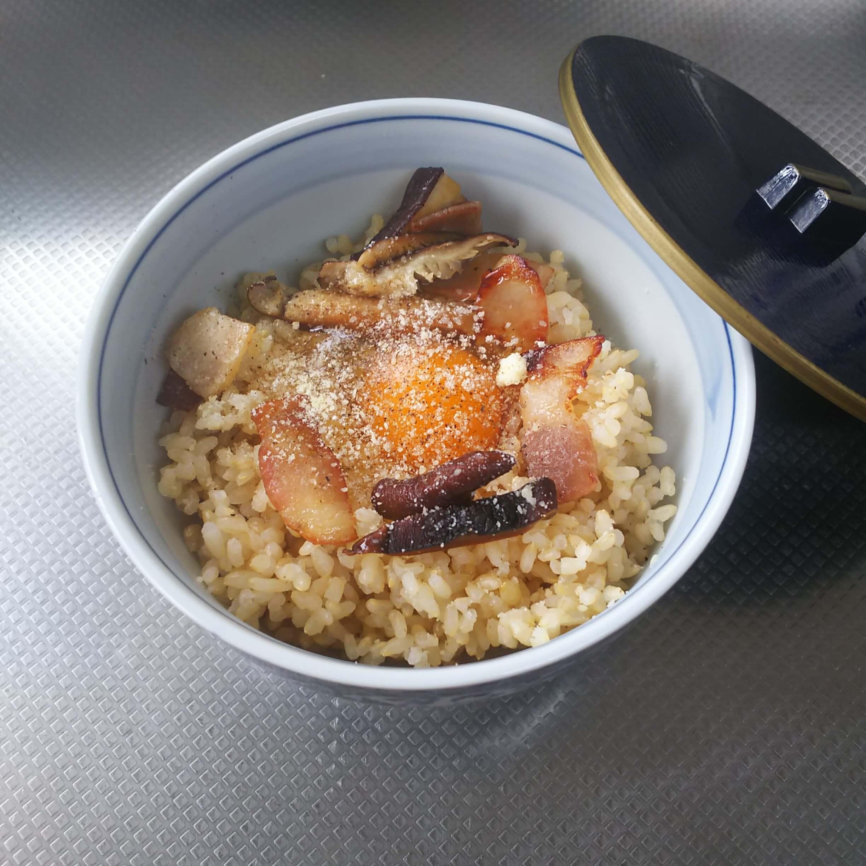 カルボナーラ風卵かけご飯