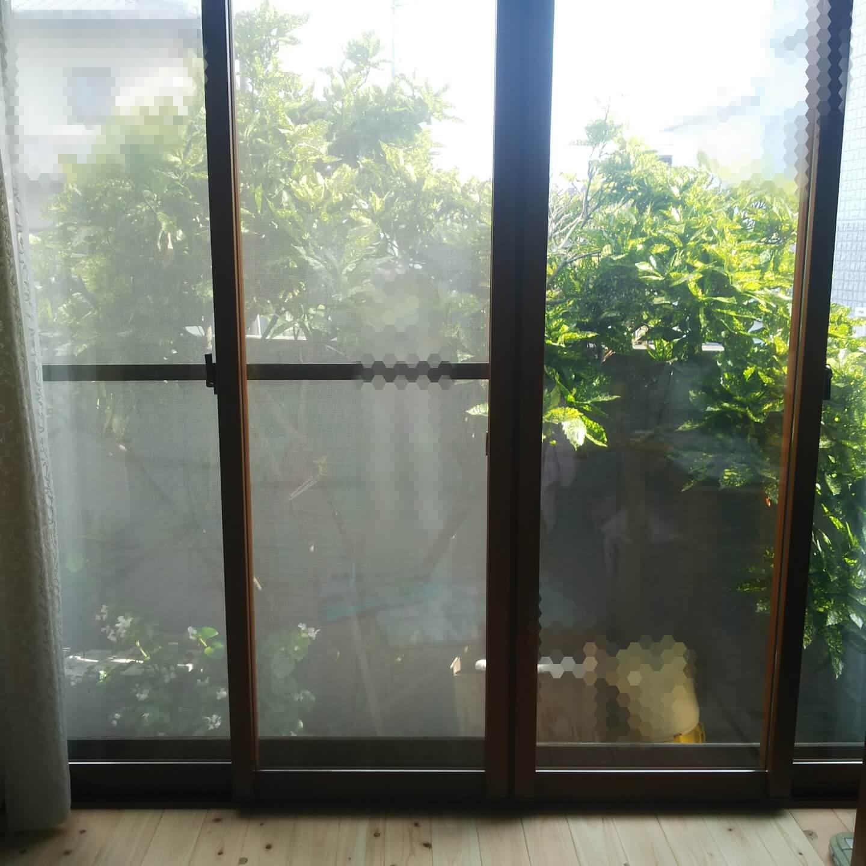 二重にした2m超えの窓