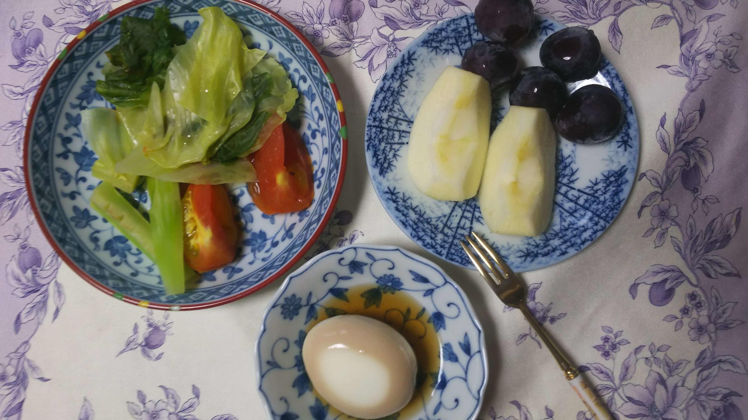 準備期間中の朝食