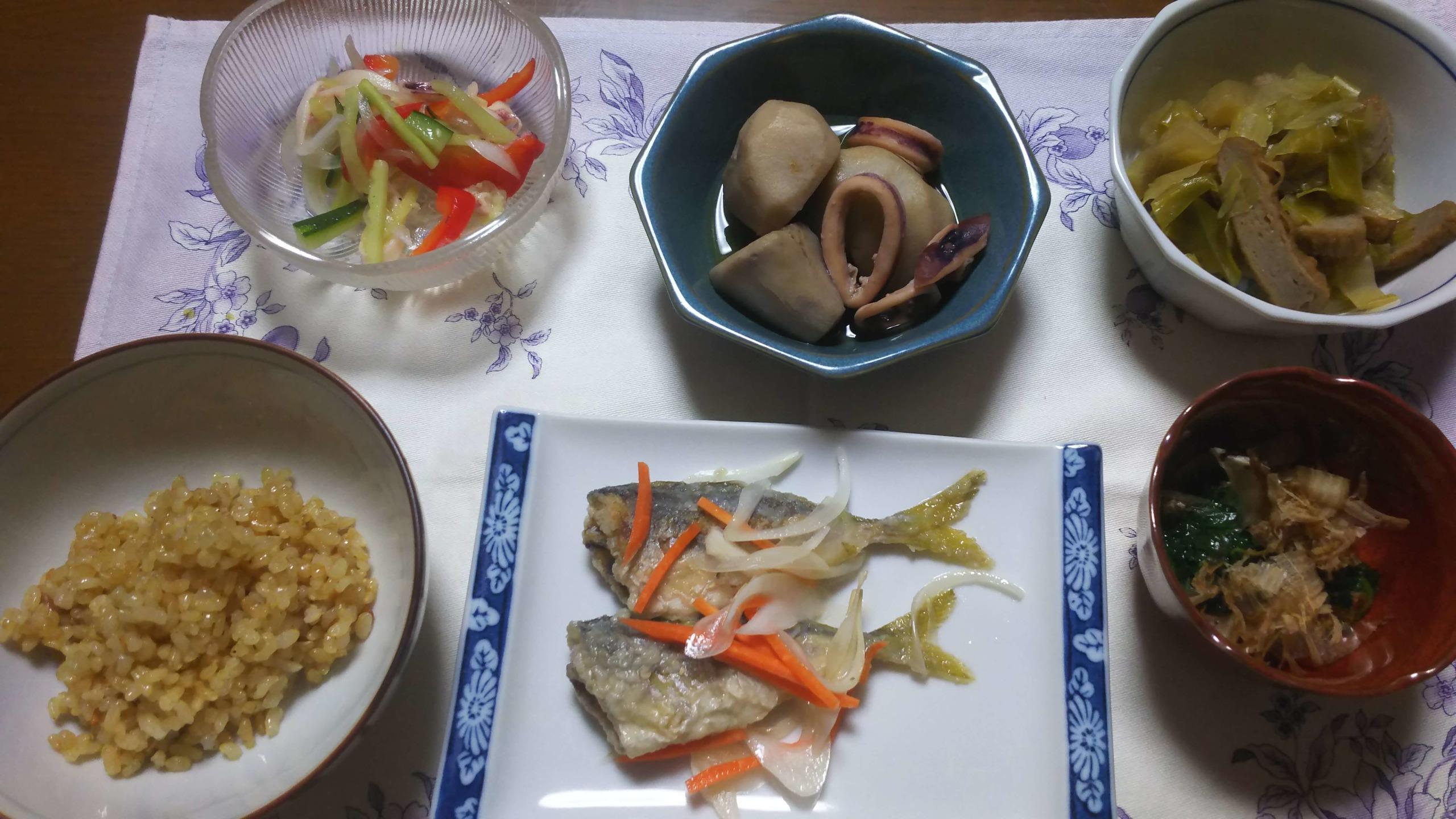 準備期間中の夕食
