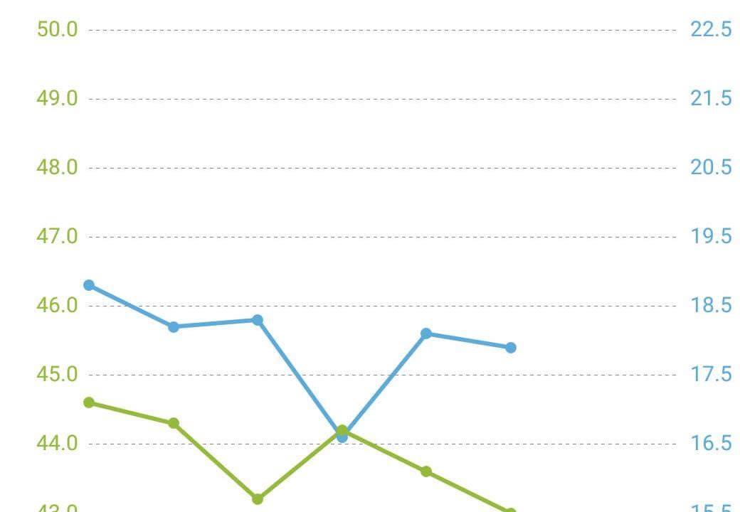 回復食期間の体重と体脂肪率