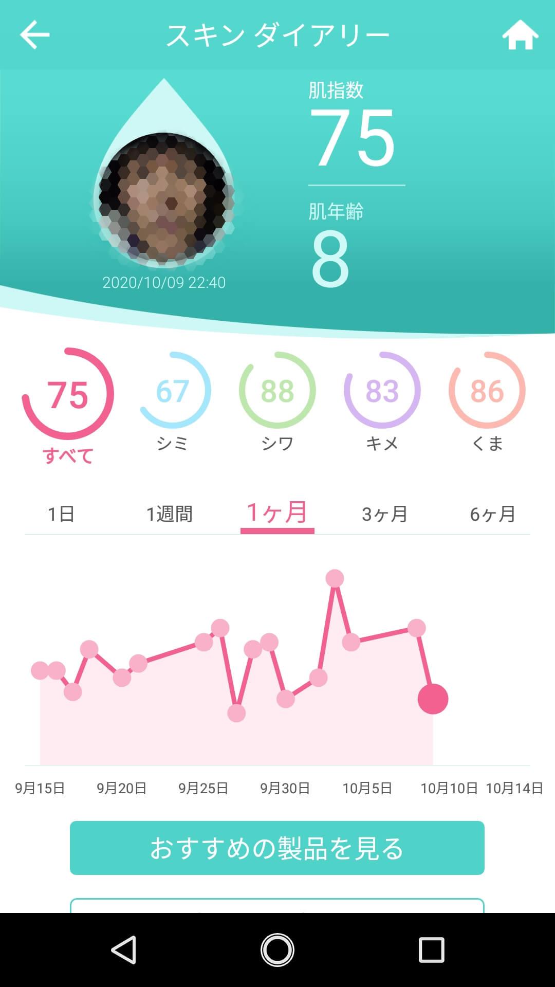 """海泥スムース""""ロゼット""""使用2日目"""